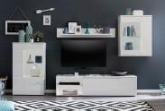 New York - Obývacia stena (biela mat/biela vysoký lesk)