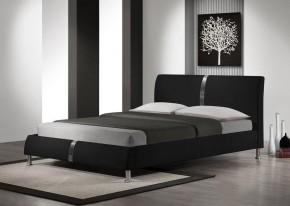 Nigel - Posteľ 200x160, rám postele, rošt (čierna)