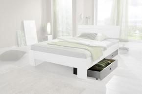 Nightlight Úložný priestor k posteli (biela,krištáľové kamienky)
