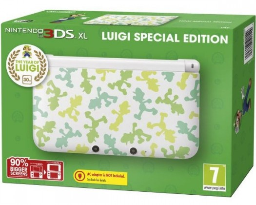 Nintendo 3DS XL White Luigi Special Edition