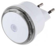 Nočné svietidlo s fotosenzorom do zásuvky 230V, 3x LED