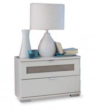 Nočný stolík Advantage - nočný stolík (alpská biela/sivá)