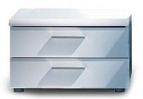 Nočný stolík Corano - 2 zásuvky (biela)