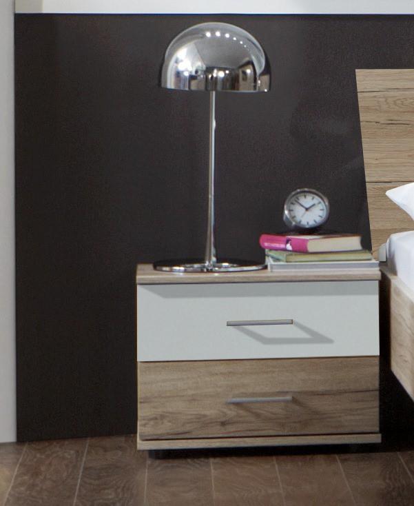 Nočný stolík Dora 768698(san- remo dub, alpská bílá)