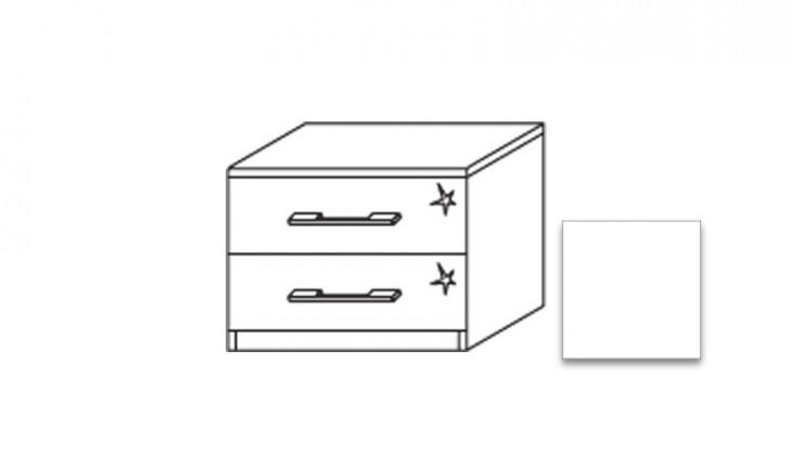 Nočný stolík Modena A - Nočný stolík, 2x zásuvka