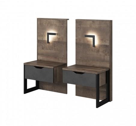 Nočný stolík Nočné stolíky Laura (dub grande pieskový/matera)