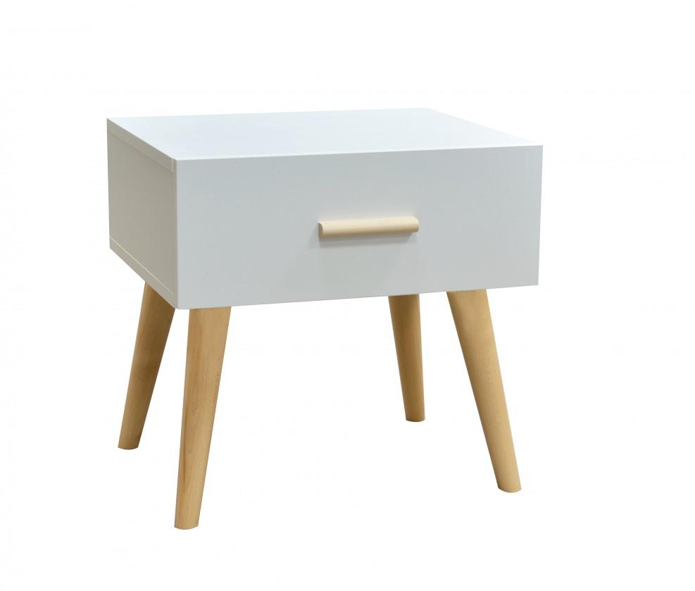 Nočný stolík Nočný stolík Creative (biela/buk)