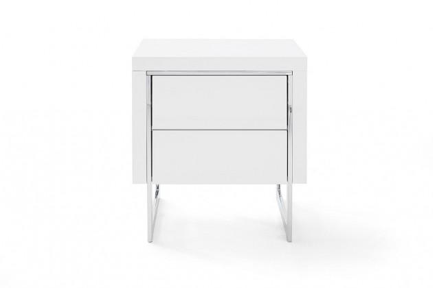 Nočný stolík Nočný stolík Garet (biela lesklá)
