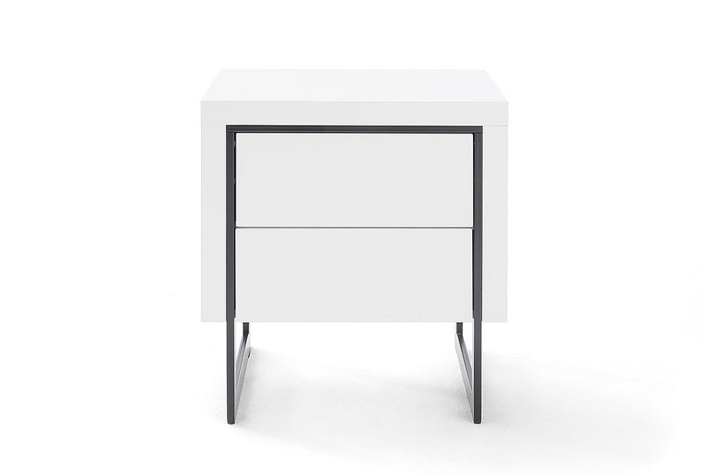 Nočný stolík Nočný stolík Garet (biela matná)