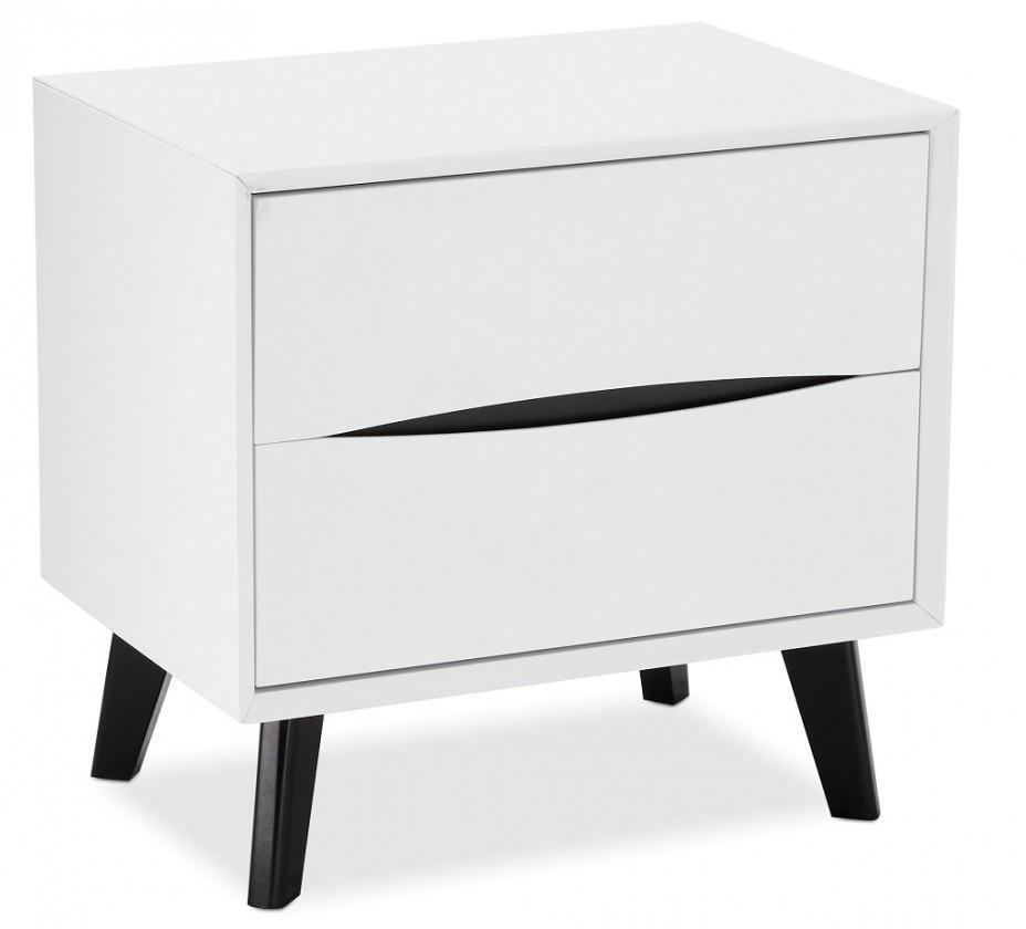 Nočný stolík Nočný stolík Sens (biela, čierna)