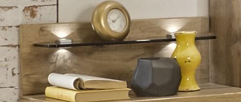 Nočný stolík Padua - Deska nočného stolíka, polica, 2ks (dub balken)
