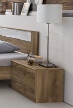 Nočný stolík Pamela - 1ks (tmavý dub)