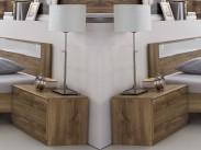 Nočný stolík Pamela - 2ks (tmavý dub)