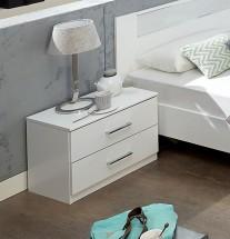 Nočný stolík Pamela (alpská biela)
