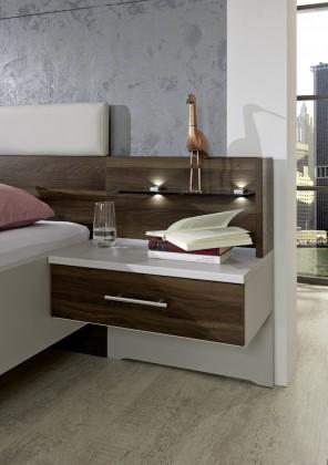 Nočný stolík Panel na nočný stolík Imola - so stenou, 2ks (champagne,nocce)