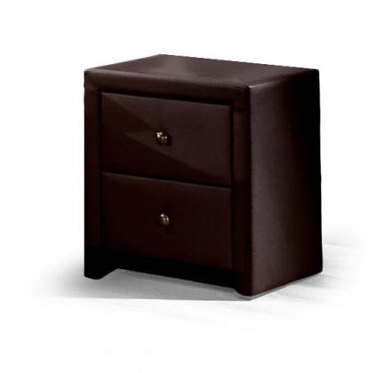 Nočný stolík Prima - Nočný stolík (tmavo hnedá)