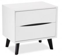 Nočný stolík Sens (biela, čierna)