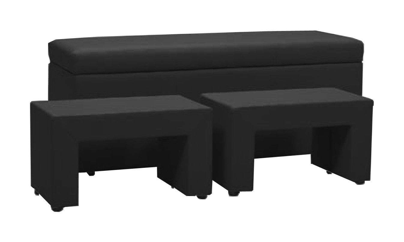 Nočný stolík TRIPLE + NIGHT STANDS (black, sk. I)