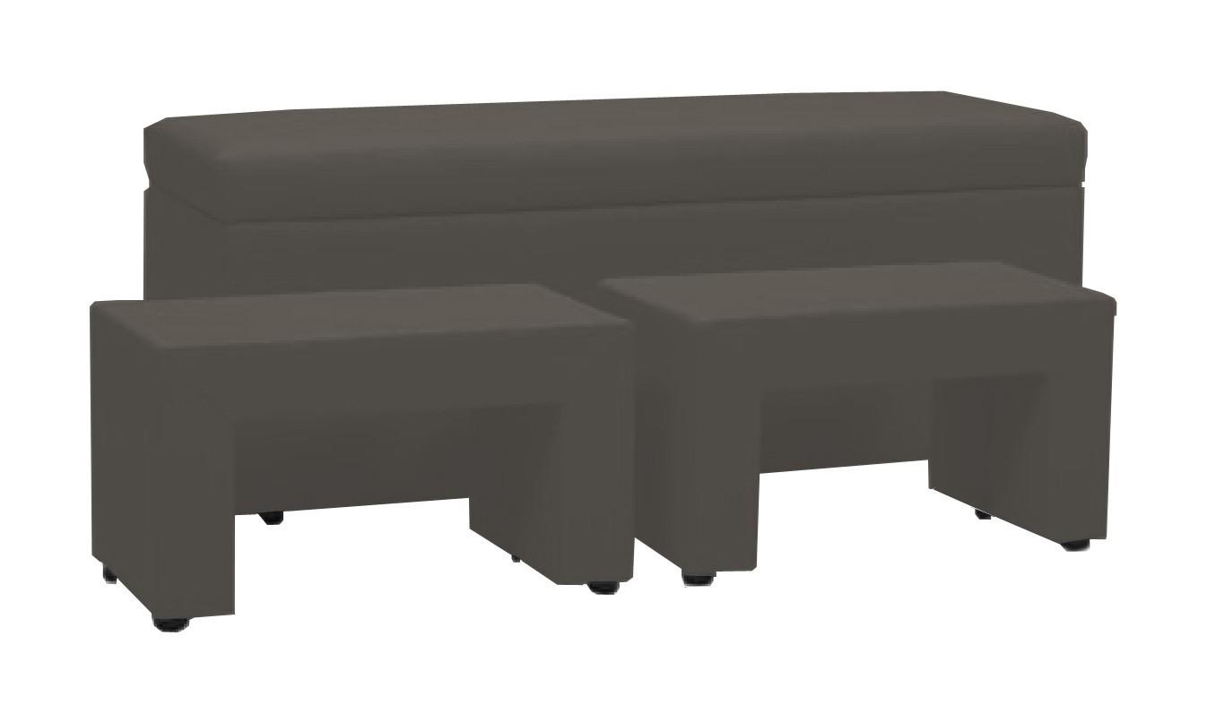 Nočný stolík TRIPLE + NIGHT STANDS (dark grey, sk. VII)