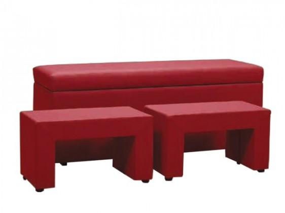 Nočný stolík TRIPLE + NIGHT STANDS (red, sk. V)
