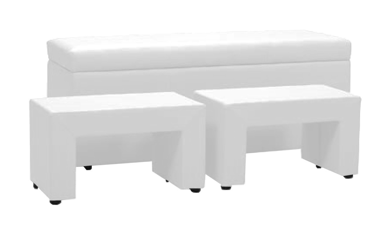 Nočný stolík TRIPLE + NIGHT STANDS (white, sk. II)