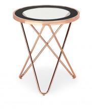 Nola - Konferenčný stolík kruhový (meď, čierna)