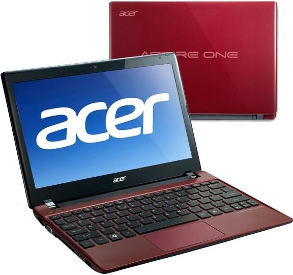 Notebooky  Acer Aspire One 756-B847Crr červená (NU.SH4EC.001)