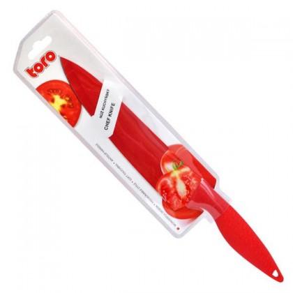 Nôž 263698 (nerez,plast,červená)