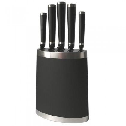 Nože TORO Blok na nože, 5 nožov, čierna (263360)
