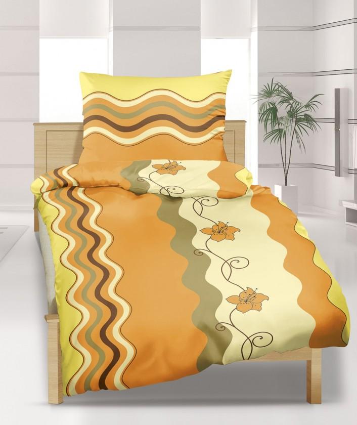 Obliečka krep 140x220 (vlnka medová)