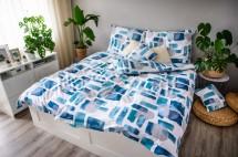 Obliečky Abstract blue (modrá, biela)