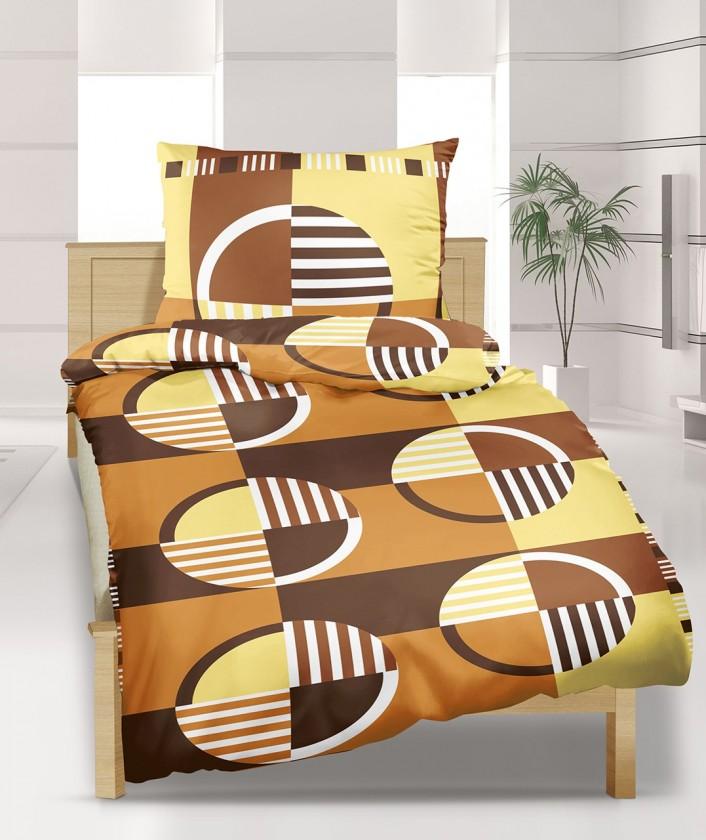 Obliečky bavlna 90/448, 140x220, 70x90 (kolesá hnedé)