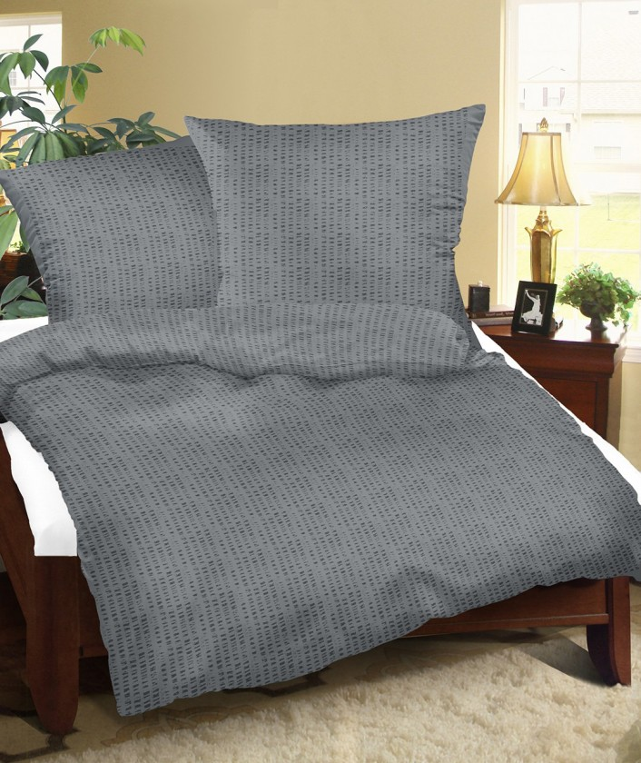 Obliečky krep 80/901 UNI, 140x200, 70x90 (sivá)