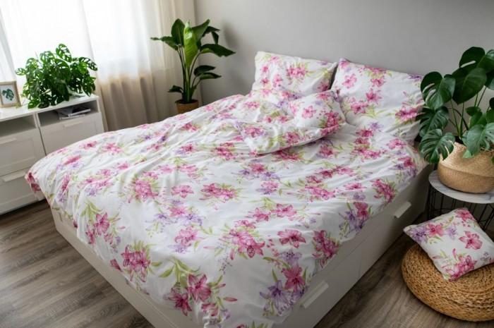 Obliečky Liliana (ružová, biela)