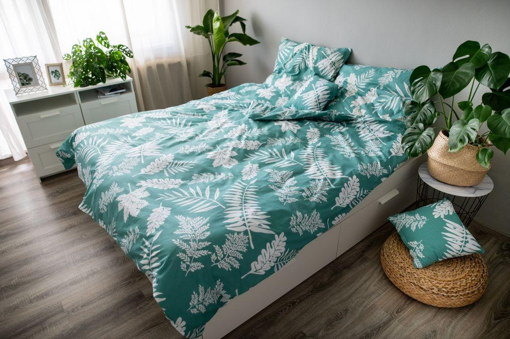 Obliečky Obliečky Palma green (zelená, biela)