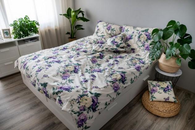 Obliečky Obliečky Violeta (fialová, biela)