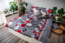 Obliečky Pedro (biela, červená, sivá)