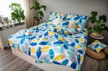Obliečky Spring (modrá, žltá, biela)