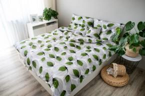 Obliečky Zelené lístočky (zelená, biela)