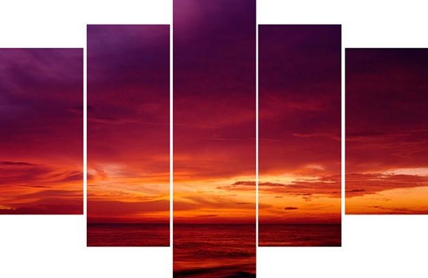 Obraz 40-882 (oranžová, fialová)