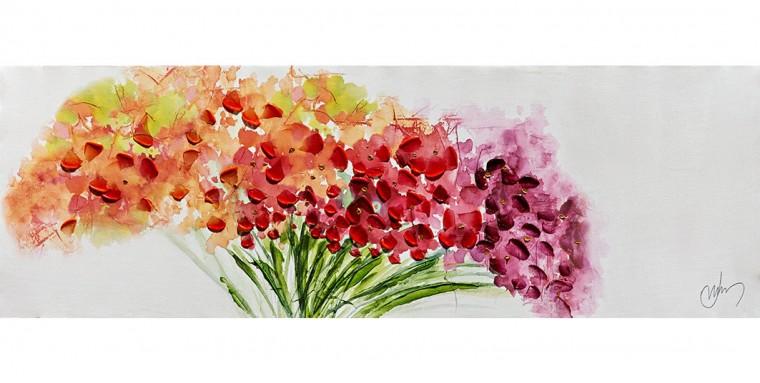 Obraz Flowers W551, 30x90 cm (kvety)