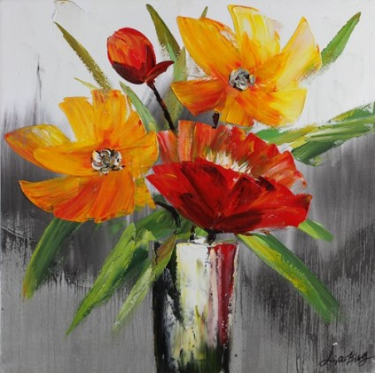 Obraz Flowers Z123, 80x80 (kvety)