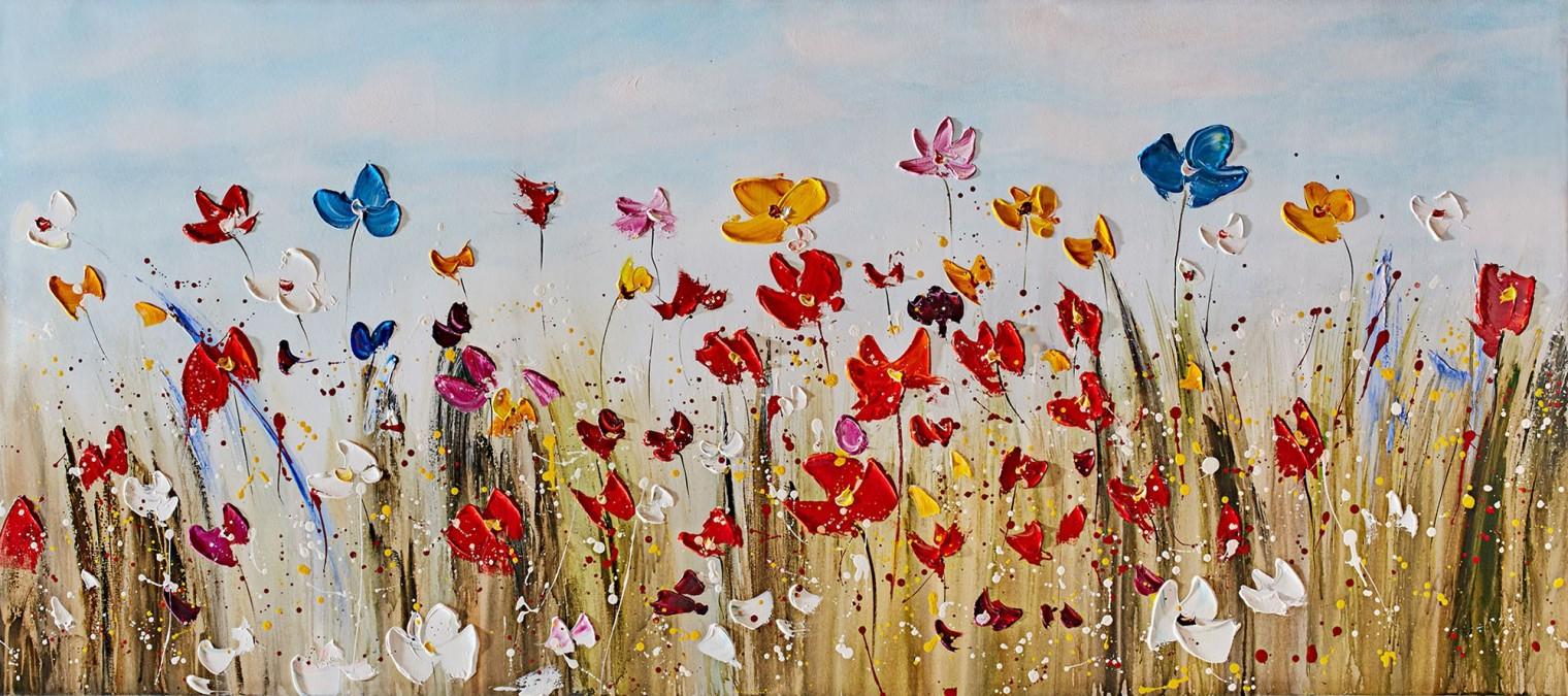 Obraz Flowers Z372, 80x180 cm (kvety)
