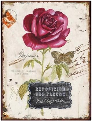 Obraz na stenu - plátno (béžová s ruží)