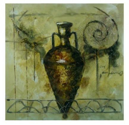 Obraz na stenu - plátno (hnedá váza)