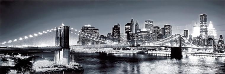 Obraz NY by night 40x120 cm