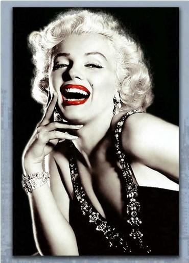 Obraz skleneny, 40x60 cm (čierno-biela Marilyn Monroe)
