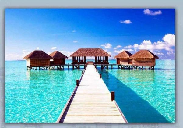 Obraz skleneny, 40x60 cm (modré mólo)