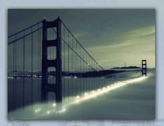 Obraz skleneny, 40x60 cm (sivý most)