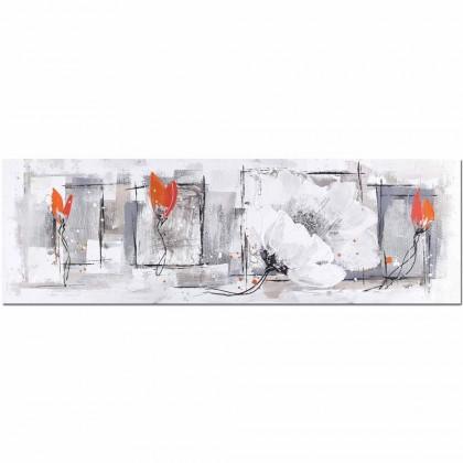 Obrazy Ručne maľovaný obraz na stenu Life (50x150 cm)